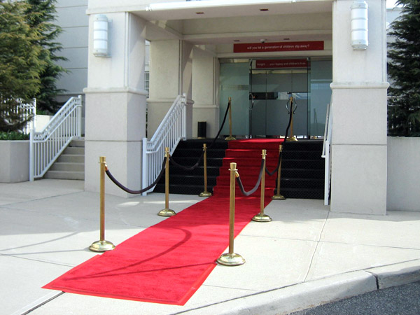 red carpet venue entrance